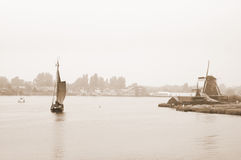 holland sepia Royaltyfria Bilder
