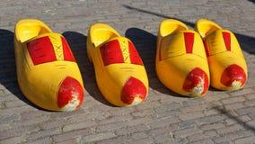 holland shoes trä Royaltyfria Foton
