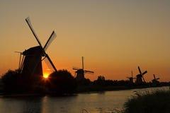 holland silhouettes Fotografering för Bildbyråer