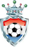 Holland soccer. Vector illustration with soccer ball on holland flag Royalty Free Stock Photos