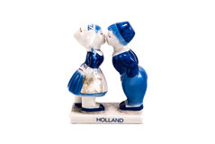 Holland Souvenir. Romantic holland ceramic souvenir isolated in white background with clipping path Stock Image