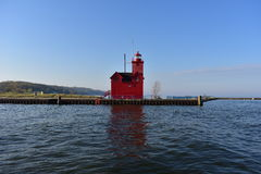Holland State Park Lighthouse image stock
