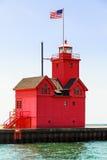 Holland stor röd fyr Arkivbilder