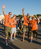 Holland supporters in Kharkov, Ukraine Royalty Free Stock Photography