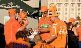 Holland supporters in Kharkov, Ukraine Stock Photo