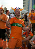 Holland supporters in Kharkov, Ukraine Royalty Free Stock Photo