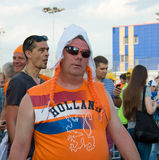 Holland supporters in Kharkov, Ukraine Stock Images