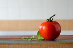 Holland Tomato. Ingredients in wood table Royalty Free Stock Photography