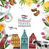 Holland Travel Frame Background Poster Image stock