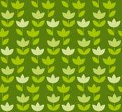 Holland-Tulpe grüne Farbe des Grases wiederholbares Motiv vektor abbildung