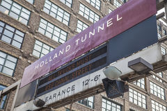 Holland Tunnel Foto de archivo