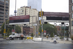 Holland tunnel closed Royalty Free Stock Photos