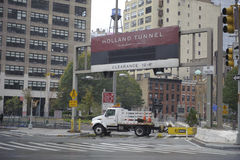 Holland tunnel closed Stock Photo