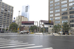 Holland tunnel closed Royalty Free Stock Images