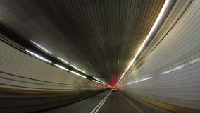 Holland Tunnel Hyperlapse 4K video estoque