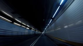 Holland Tunnel nach New-Jersey in 4K stock footage