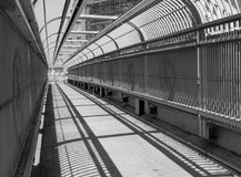 Holland Tunnel pedestrian bridge. Goes over Holland Tunnel Rotary at St. John`s Park in Lower Manhattan Stock Photo