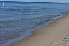 Holland Tunnerl Beach - Lake Michigan. This photo was taken at Holland State Park Stock Photo