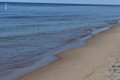 Holland Tunnerl Beach - le lac Michigan photo stock
