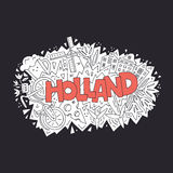 Holland Vector Concept Royalty Free Stock Photography