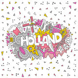 Holland Vector Concept Royalty Free Stock Images