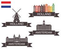 Holland. Vector illustration (EPS 10 Stock Photo