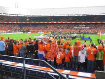 Holland Vs Ghana 2010 (estádio de Feyenoord) Rotterdam Fotos de Stock Royalty Free