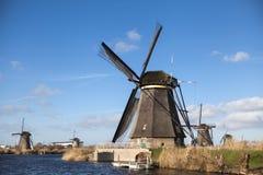 holland wiatraczek Stara młyn kreda, mąka i Piękny tło wieś Holandia Zdjęcie Royalty Free