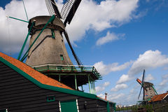 Holland wind mill. Netherlands - wind mill - dynamic view royalty free stock photo