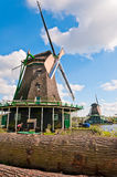 Holland-Windmühlenansicht Stockbild