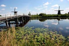 holland windmill Royaltyfria Bilder