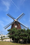 Holland Windmill,Jeju Volcanic Island Stock Photo