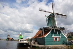 Holland windmill landscape Royalty Free Stock Photo