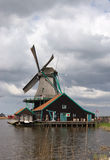Holland windmill landscape Royalty Free Stock Images