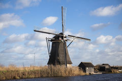 Holland windmill. Old mill chalk and flour . The beautiful backdrop of the countryside of Holland. Stock Photography