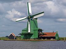 Holland Windmill Zaanse Schans Stock Image