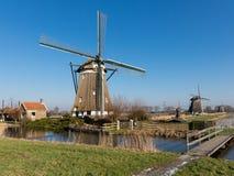 holland windmills Arkivfoto