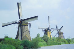 holland windmills Royaltyfria Bilder