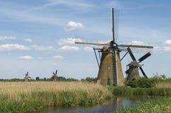 holland windmills Royaltyfri Bild