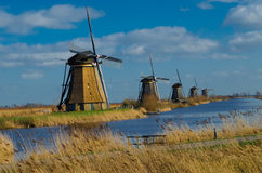 Holland, Windmills rows in Kinderdijk Stock Photo
