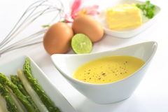 Hollandaise Sauce with Pepper royalty free stock photography