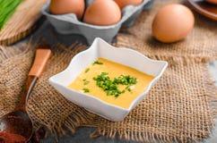 Hollandaise sauce product photo Stock Image