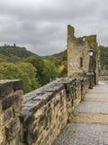 Holle Tand - de ruïnes van een toren van één van de vestingspoorten in de Stad van Luxemburg, Luxemburg stock fotografie