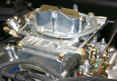 Holley 600 CFM Aluminum Street Carburetor. Holley model 600 CFM aluminum 4 barrel carburetor.  Street driven model for stock or modified automobiles Royalty Free Stock Photography