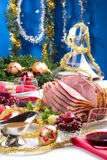 Holliday honey ham Stock Photos