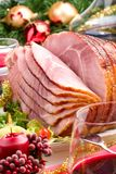 Holliday honey ham Stock Photography