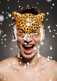 Holliday Leopard Mask stock afbeelding