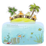 Holliday in tropical island, concept background Royalty Free Stock Photography