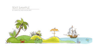Holliday in tropical island, concept background Royalty Free Stock Photo