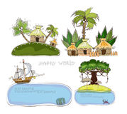 Holliday in tropical island, concept backgrounds Stock Images